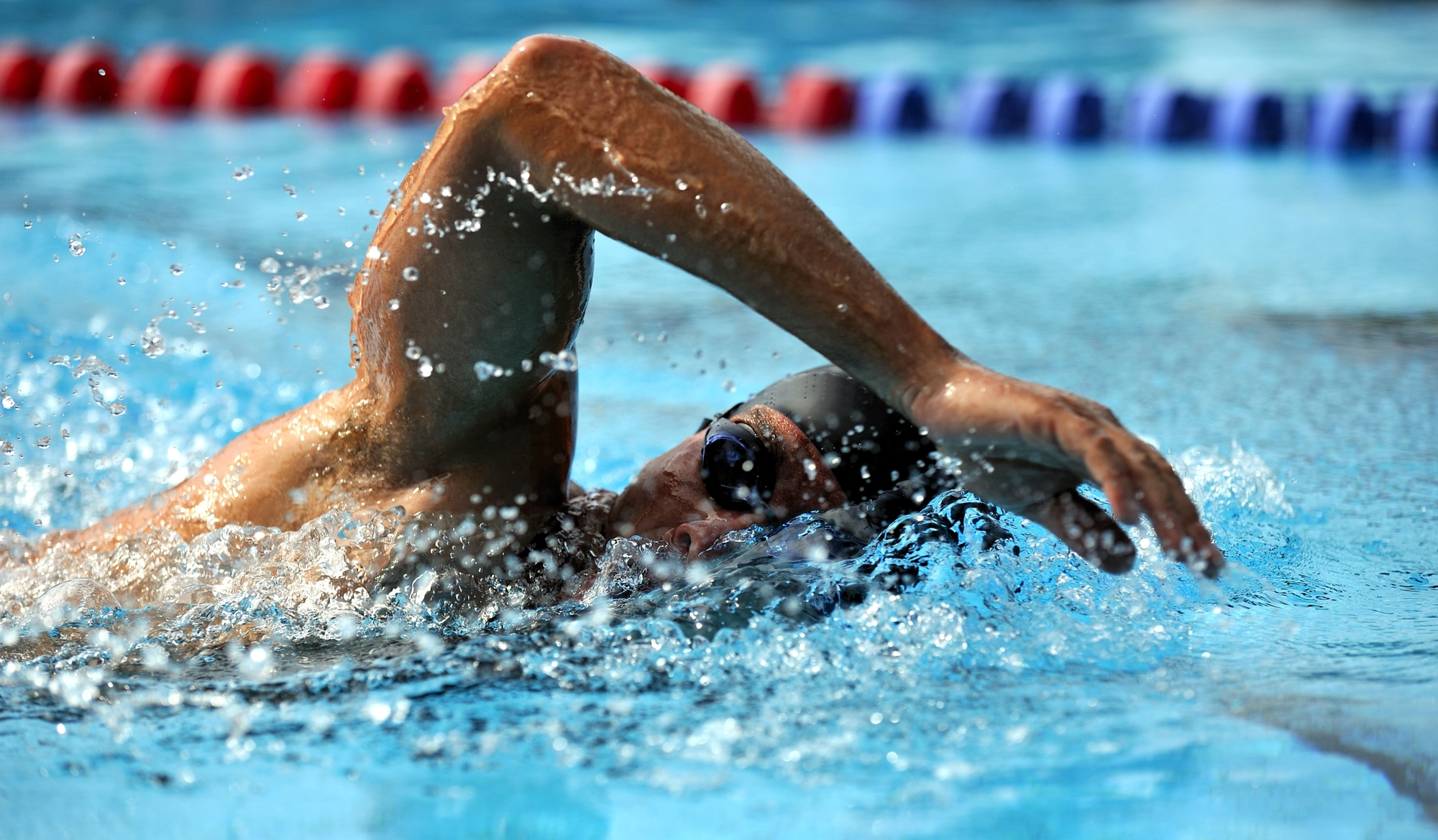 Athlete Swimmer taking part in a race