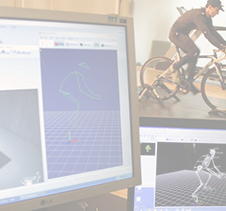Athlete Cyclist performance measured by sensory equipment
