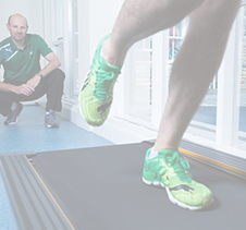 Sports Scientist monitoring Athlete runner on treadmill