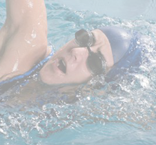 Athlete swimmer competing in a triathlete race