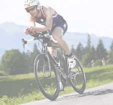 Athlete Cyclist taking part in a race