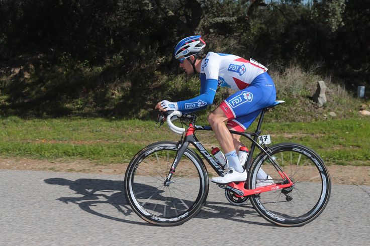 Athlete cycling as part of a triathlon race